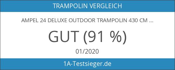 Ampel 24 Deluxe Outdoor Trampolin 430 cm Komplettset mit Netz