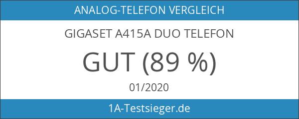 Gigaset A415A Duo Dect-Schnurlostelefon mit Anrufbeantworter schwarz