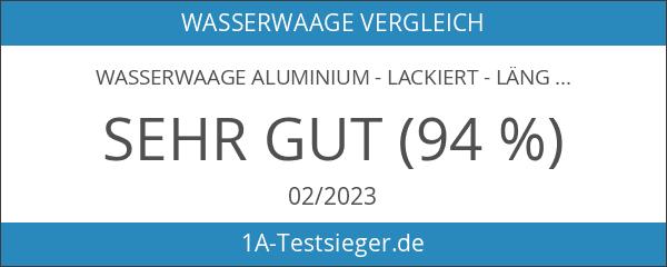 Wasserwaage Aluminium - lackiert - Länge: 200cm 2m - Messtoleranz:
