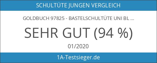 Goldbuch 97825 - Bastelschultüte uni blau 70 cm