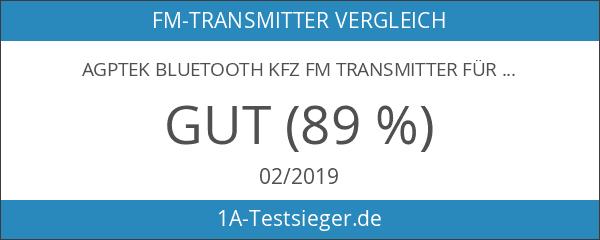 AGPTek Bluetooth KFZ FM Transmitter für Freisprechen