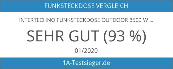 Intertechno Funksteckdose Outdoor 3500 W. wetterfest GRR-3500 Ein-Aus