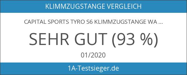 CAPITAL SPORTS Tyro S6 Klimmzugstange Wandmontage inkl. Montagematerial silber