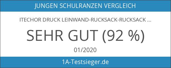 iTECHOR Druck Leinwand-Rucksack-Rucksack-Kindergarten School Student Tasche für Jungen-Mädchen-Kind-Kind-Kleinkinder - Blau