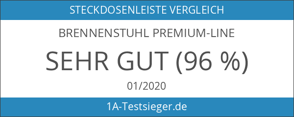 Brennenstuhl Premium-Line Steckdosenleiste 4-fach schwarz mit Schalter