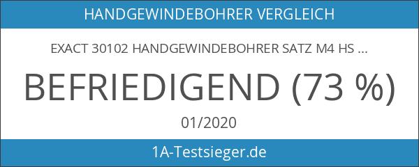 EXACT 30102 Handgewindebohrer Satz M4 HSS DIN 352