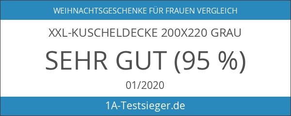 XXL-Kuscheldecke 200x220 grau