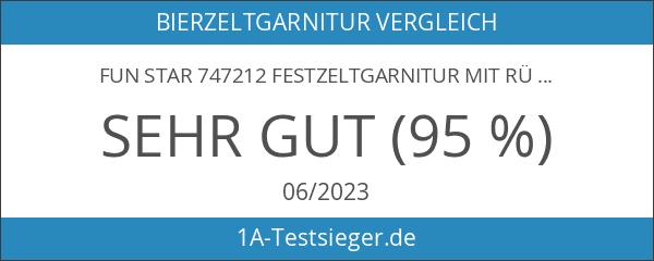 Fun Star 747212 Festzeltgarnitur mit Rückenlehne 220 x 60 cm