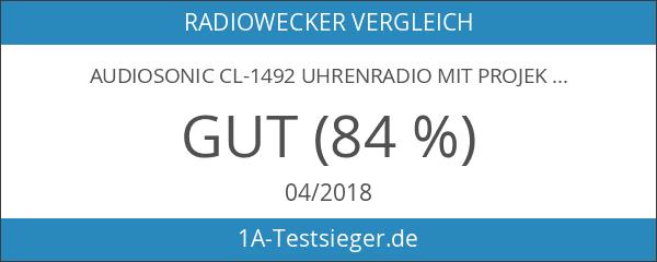 AudioSonic CL-1492 Uhrenradio mit Projektor