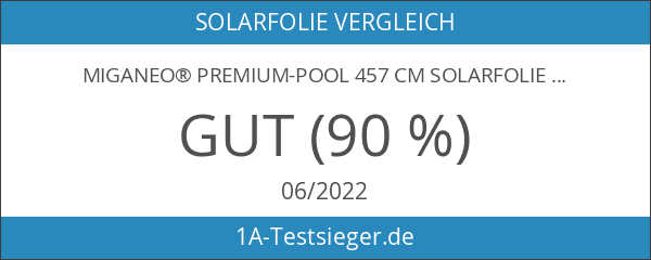 Miganeo® Premium-Pool 457 cm Solarfolie Solarplane schwarz