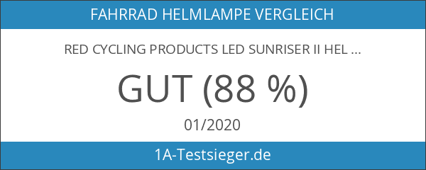 Red Cycling Products LED Sunriser II Helmlampe schwarz