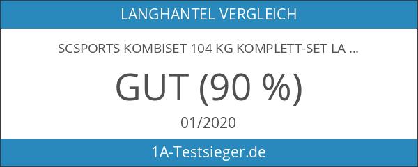 ScSPORTS Kombiset 104 kg Komplett-Set Langhantel Curlstange Kurzhantel Guss Scheiben