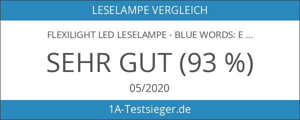 Flexilight LED Leselampe - Blue Words: Extra hell und super-flexibel