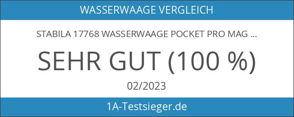Stabila 17768 Wasserwaage Pocket PRO Magnetic
