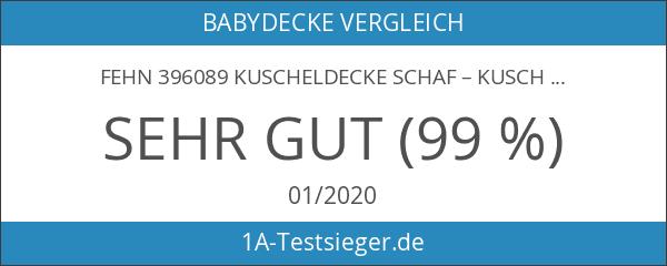 Fehn 396089 Kuscheldecke Schaf – Kuschelige Schmusedecke für Babys und
