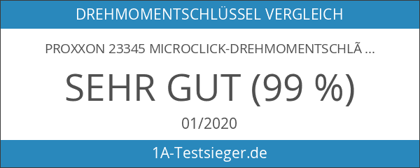Proxxon 23345 MicroClick-Drehmomentschlüssel MC15 3–15Nm mit Kunststoffkoffer