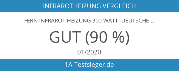 Fern Infrarot Heizung 300 Watt -Deutscher Hersteller- GS TÜV Süd