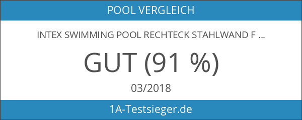 Intex Swimming Pool Rechteck Stahlwand Frame Schwimmbad 732 x 366