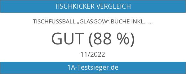 """Tischfussball """"Glasgow"""" Buche inkl. Zubehör Set"""