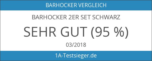 Barhocker 2er Set Schwarz