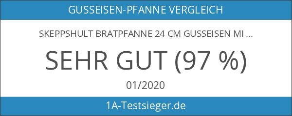 SKEPPSHULT Bratpfanne 24 cm Gusseisen mit Holzgriff - 0240T