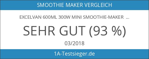 Excelvan 600mL 300W Mini Smoothie-maker Mixer Standmixer Blender inkl. Trinkflasche
