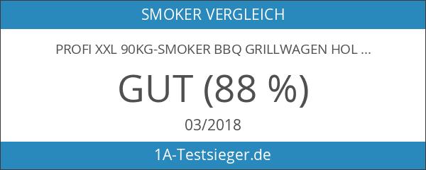 PROFI XXL 90kg-Smoker BBQ GRILLWAGEN Holzkohle Grill Grillkamin 3