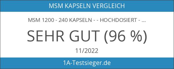 MSM 1200 - 240 Kapseln - - Hochdosiert - Premium