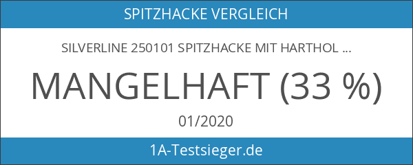 Silverline 250101 Spitzhacke mit Hartholzstiel 680 g
