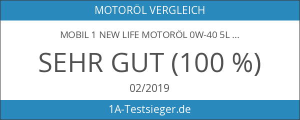 Mobil 1 New Life Motoröl 0W-40 5L