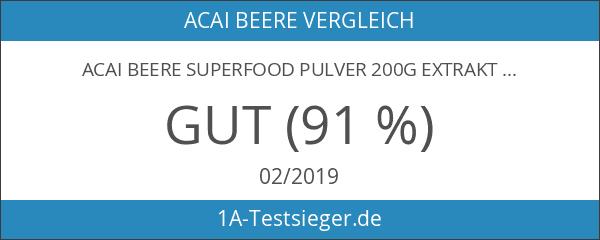 Acai Beere Superfood Pulver 200g Extrakt 4:1 Euterpe oleracea