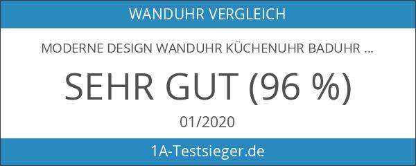 Moderne Design Wanduhr Küchenuhr Baduhr Bürouhr Dekoration ruhig LKU-Schwarz Neu
