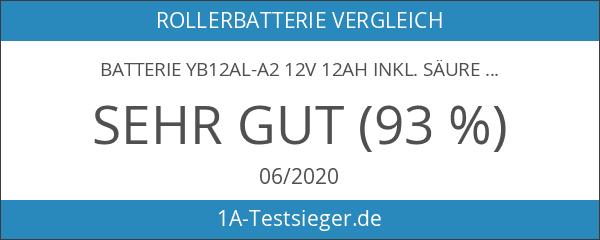 Batterie YB12AL-A2 12V 12AH inkl. Säure Aprilia Atlantic 125