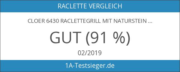 Cloer 6430 Raclettegrill mit Naturstein
