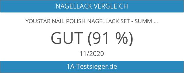 YOUSTAR Nail Polish Nagellack Set - Summer Edition - mit
