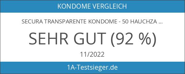 Secura transparente Kondome - 50 hauchzarte Kondome in diskreter