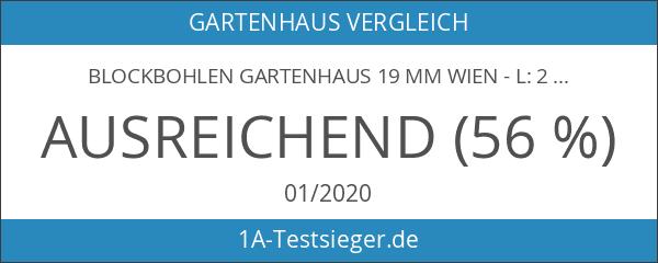 Blockbohlen Gartenhaus 19 mm Wien - L: 200 cm x