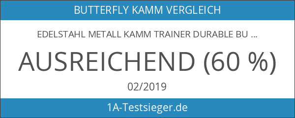 Edelstahl Metall Kamm Trainer Durable Butterfly Kamm Messer Outdoor Training