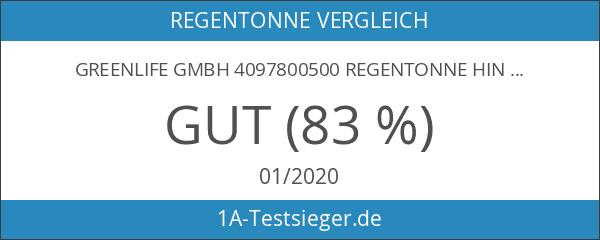 GreenLife GmbH 4097800500 Regentonne Hinkelstein 230 l mit Deckel