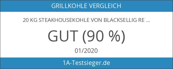 20 Kg Steakhousekohle von BlackSellig reines Quebracho Holz Grillkohle -
