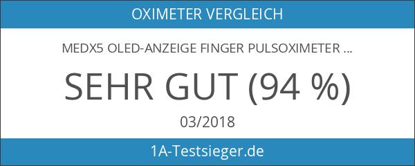 MedX5 OLED-Anzeige Finger Pulsoximeter