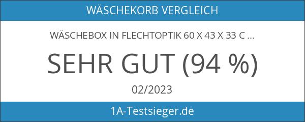 Wäschebox in Flechtoptik 60 x 43 x 33 cm Rattan