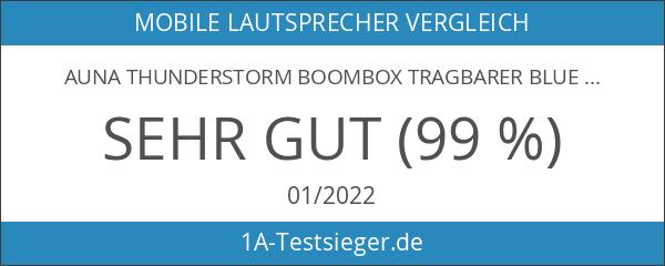auna Thunderstorm Boombox tragbarer Bluetooth-Lautsprecher mobile Stereoanlage 12W max