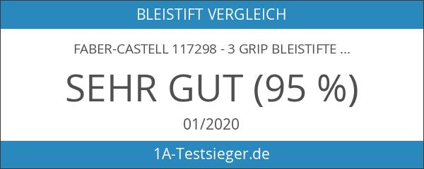 Faber-Castell 117298 - 3 GRIP Bleistifte 2001 mit Gummi-Tip