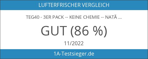 TEG40 - 3er Pack -- KEINE CHEMIE -- NATÜRLICHER GERUCHSKILLER