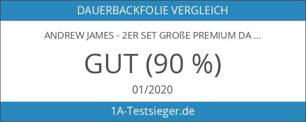 Andrew James - 2er Set Große Premium Dauerbackfolien - 50cm