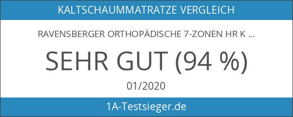 Ravensberger ORTHOPÄDISCHE 7-Zonen HR Kaltschaummatratze H2 RG 40 Baumwoll-DT 90x200