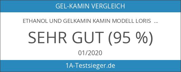 Ethanol und Gelkamin Kamin Modell Loris Premium XXL Weiss Hochglanz