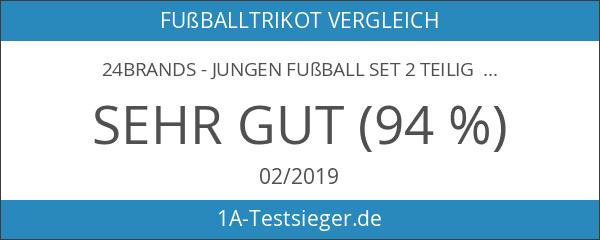 24brands - Jungen Fußball Set 2 Teilig Trainings Trikot Deutschland