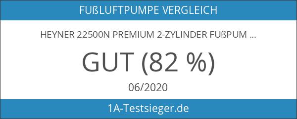 Heyner 22500n Premium 2-Zylinder Fußpumpe mit Manometer